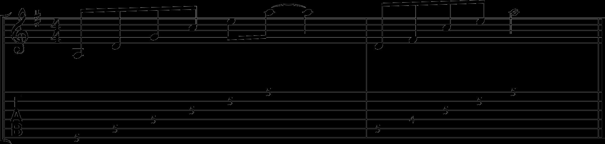 Artificial harmonics exercise.
