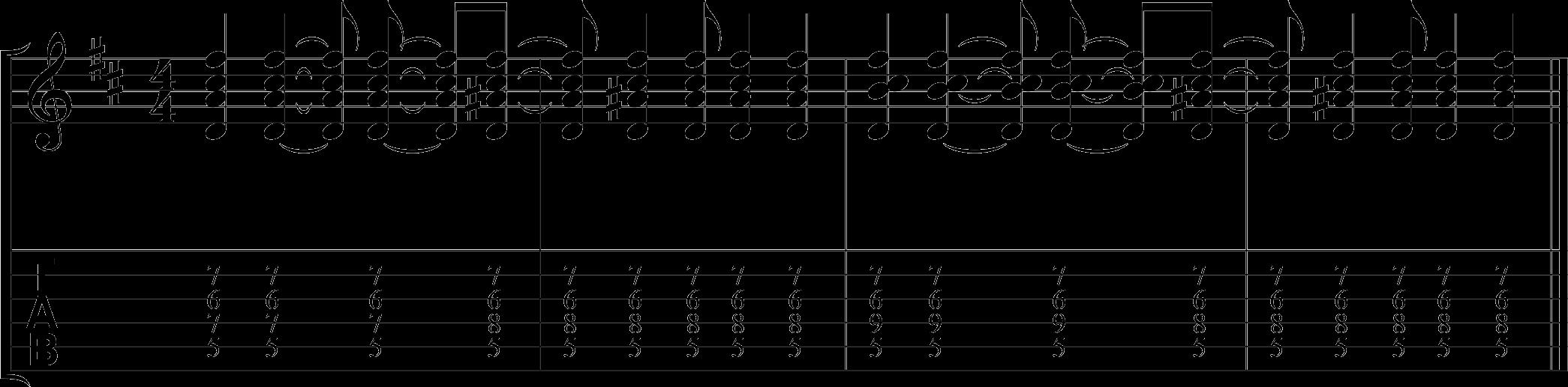 Guitar fingerpicking lesson all-together.