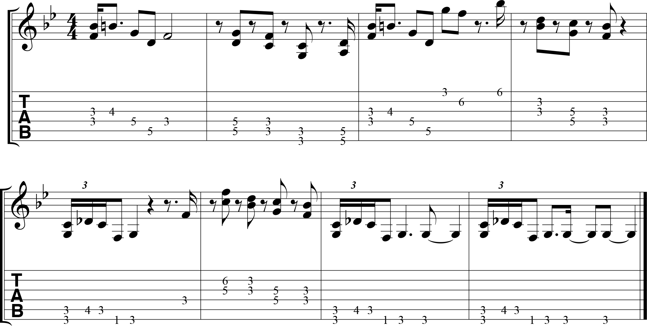 Double stop example--E major scale in diatonic thirds.