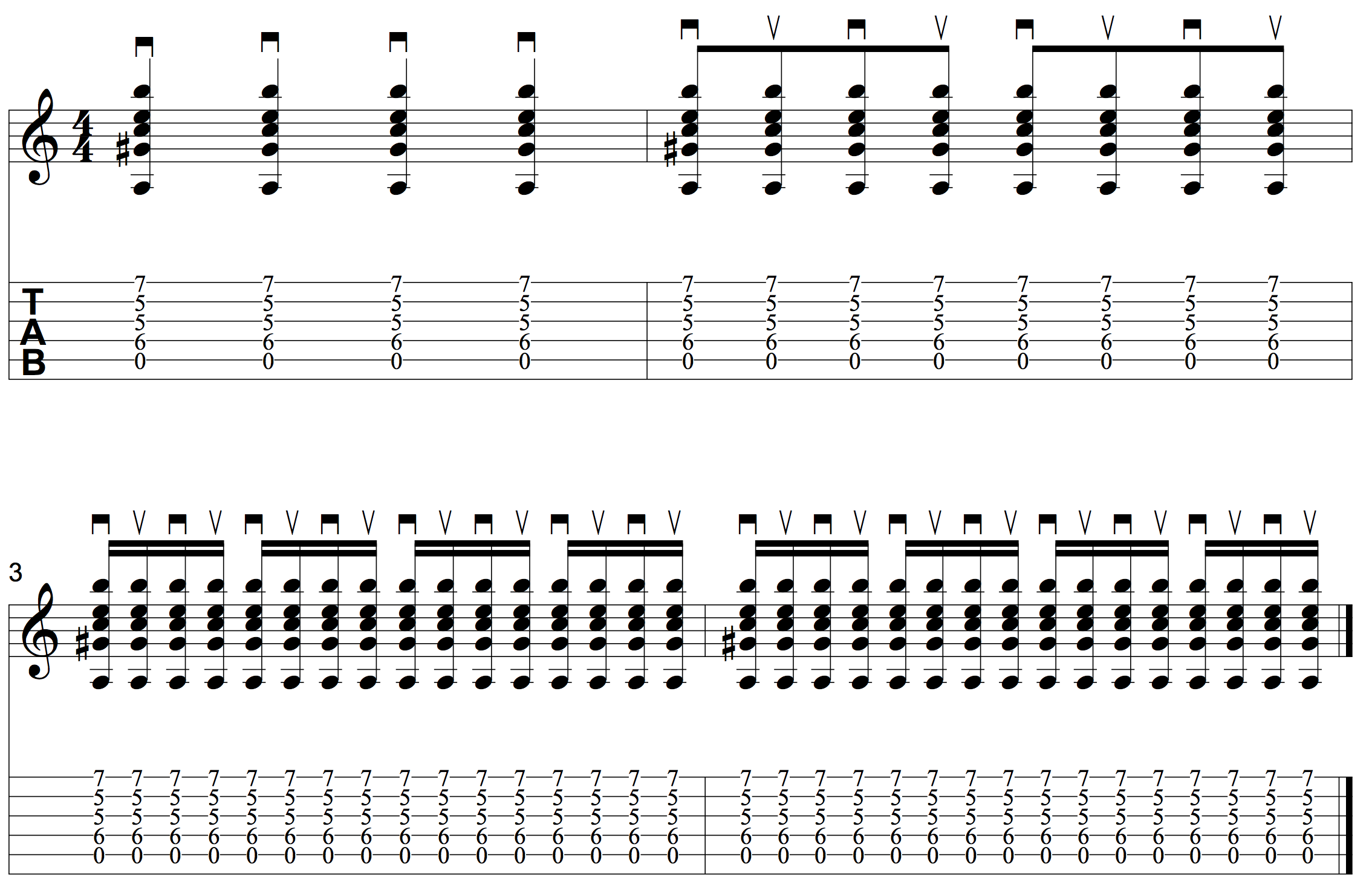 Tremolo strumming exercise for guitar � learn to strum fast, repeated chords.