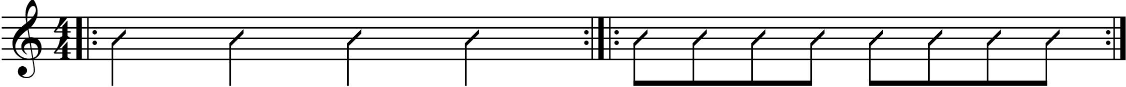 some syncopated rhythms.