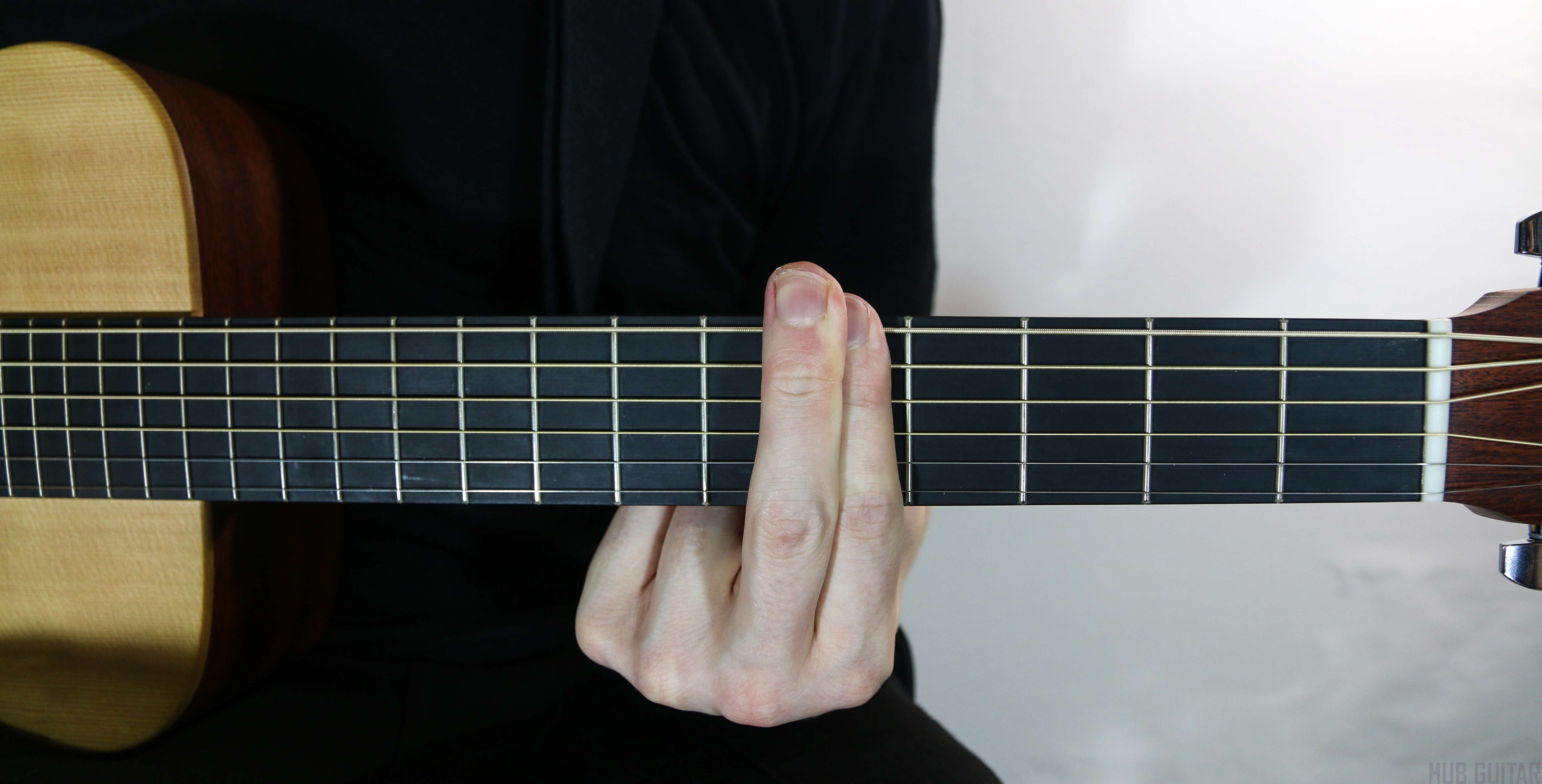 Using two fingers to barre one fret.