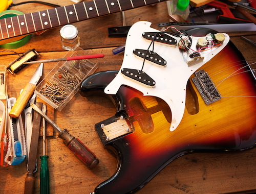 Guitar repair services in Boston