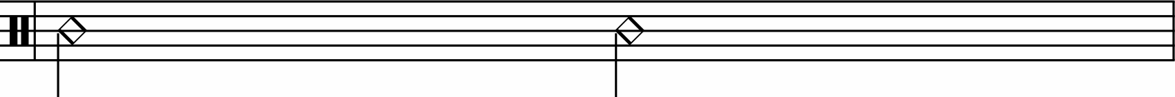 Half note rhythm example.