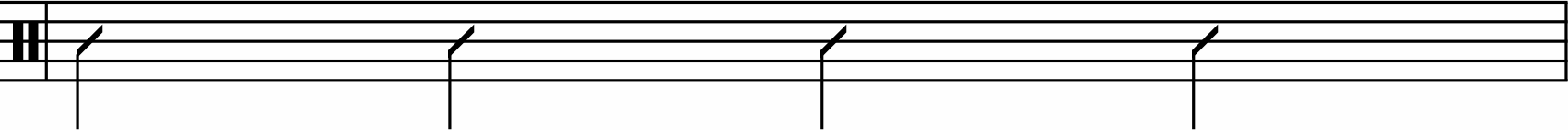 Quarter-note rhythm example.
