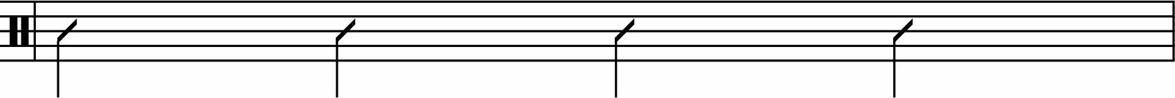 Quarter-note rhythm example.