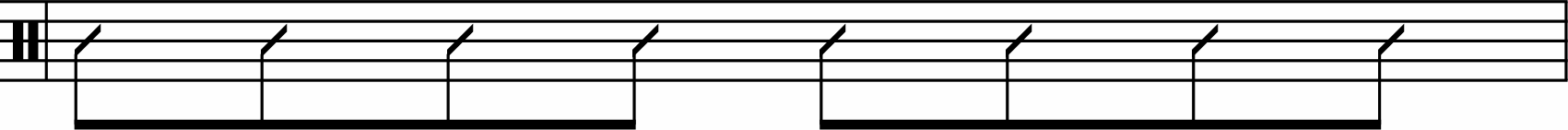 Eighth-note rhythm example.