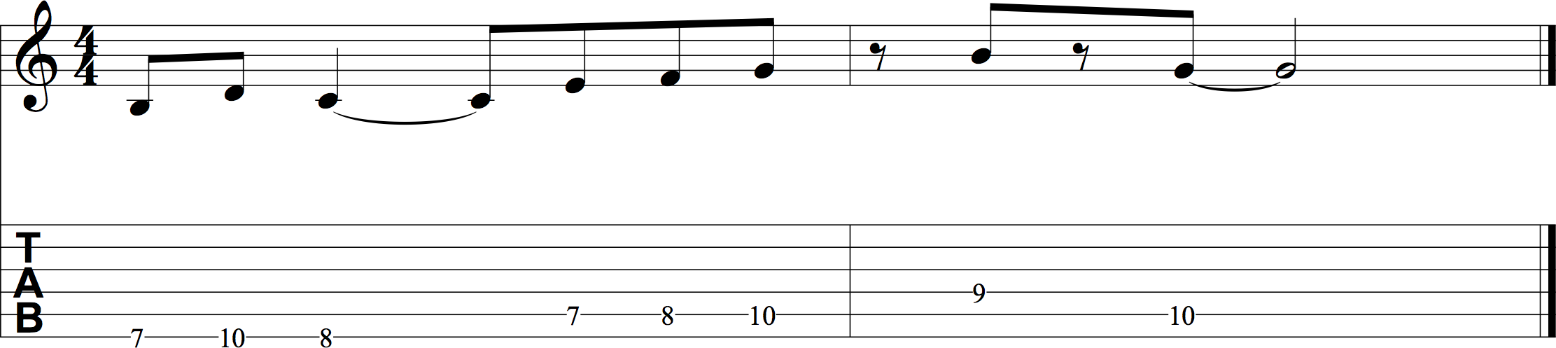 An example of the fret hand fingersnap technique.