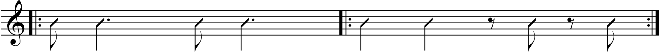 some syncopated rhythms.