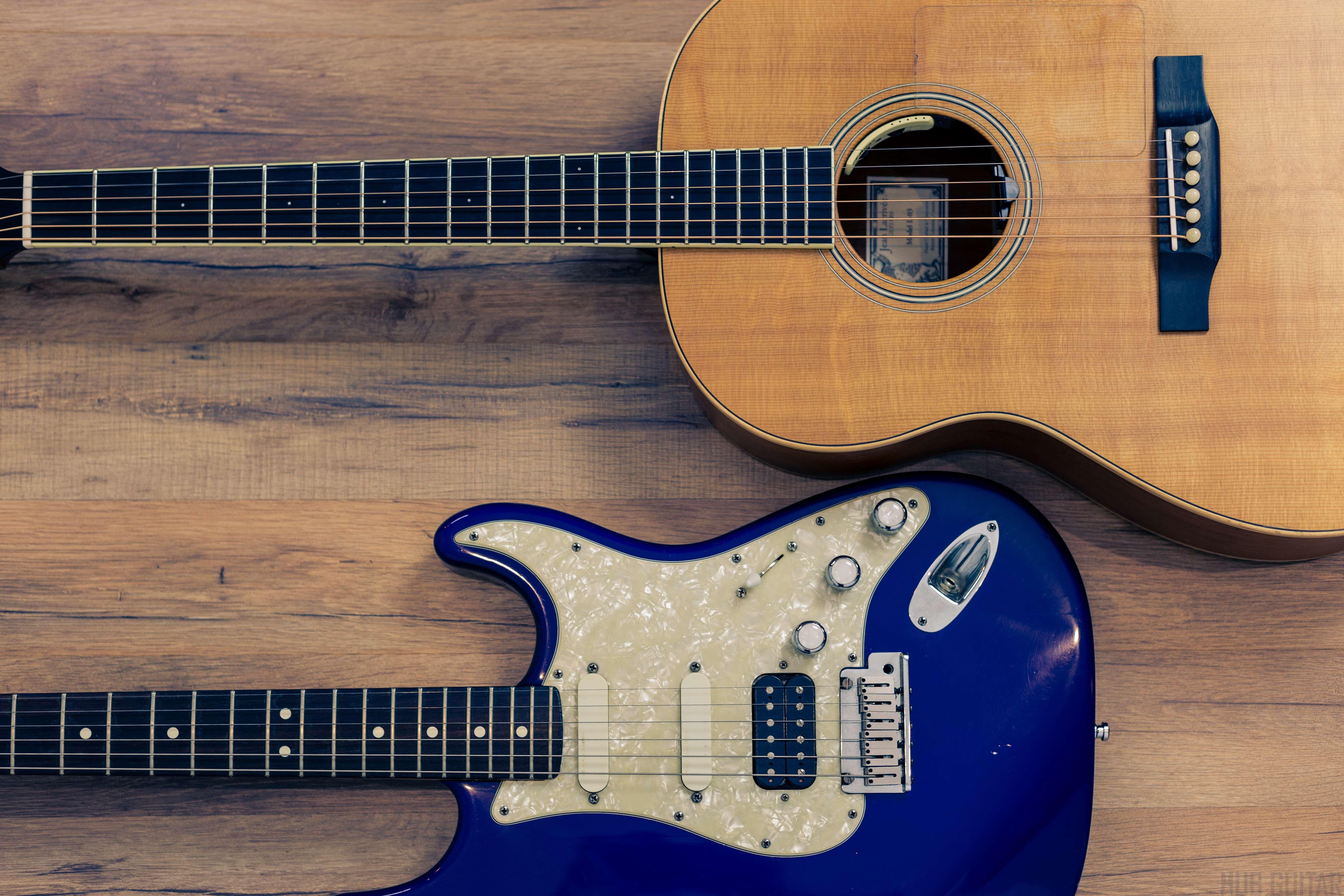 acoustic vs electric guitar a beginner s guide hub guitar. Black Bedroom Furniture Sets. Home Design Ideas